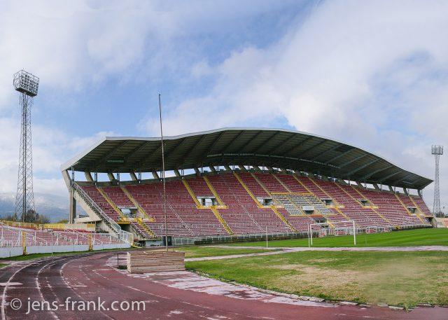 Gradski Stadion Skopje, Mazedonien